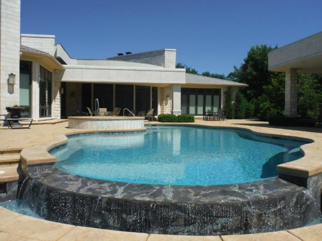 Swimming pool design barrington pools for Pool negative edge design